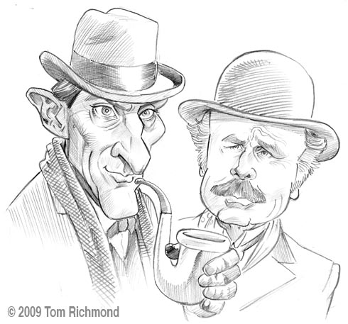 Richmond illustration inc - Dessin de sherlock holmes ...